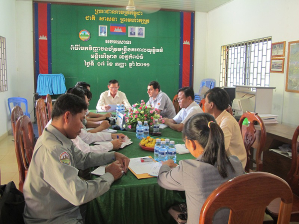 Saber Masoomi at evaluation meeting for Ramsar Tonle Sap project in Cambodia (2011).