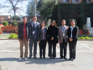 The Environment Team getting ready for the visit of the UNDP Administrator Helen Clark's visit to Nepal (Kathmandu, Nepal: November 2011).