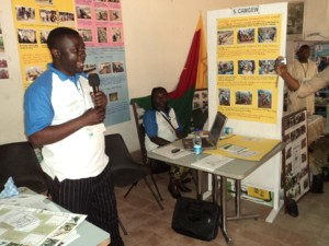 Participating through sharing during the African Climate Change Development Market Place Competition in Cameroon.