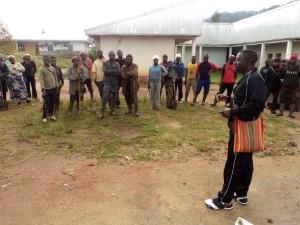 Organizing community members to do tree planting.
