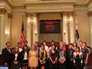 Students from my Climate Action Planning Studio welcomed on the California State Assembly Floor.