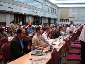 Participating and giving presentation in Ramsar CoP 10, Korea.