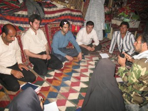 Coordination meeting with local communities around Lake Parishan 2007, as the coordinator of the first wetland festival in Iran.