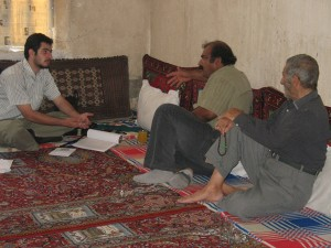 Meeting with local communities around Lake Parishan, Iran for alternative livelihoods (2008)