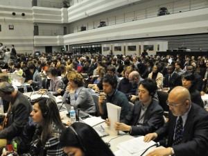 "Participant observation as part of a ""Collaborative Event Ethnography"" of the 10th Conference of the Parties to the United Nations Convention on Biological Diversity (CBD/COP10) in Nagoya."