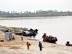 Char Batia is a small village in the Bogra district in Bangladesh where inhabitants have been forced to migrate on multiple occasions due to river erosion.
