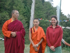 Post-conference interviews about happiness in Bhutan.