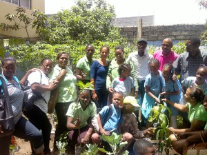 Planting trees with children and local communities during World Environment Day (WED 2015) on 6th June 2015 in Assomada, Santiago Island, Cape Verde.