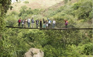 ALLSA members at El Sonido del Yaque, a community that built a small community hydro power plant and developed an ecotourism project led by women.