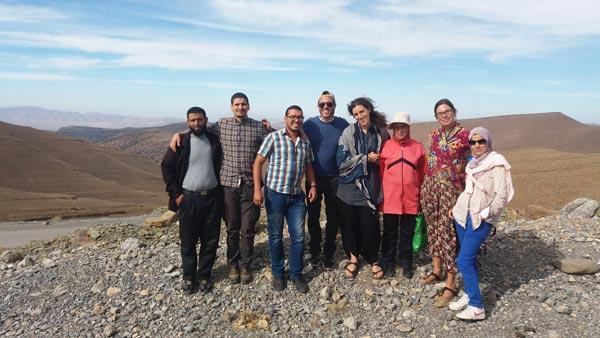 group-on-mountain